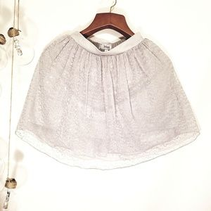 Girls Disney Silver Sequin TuTu Skirt 7/8